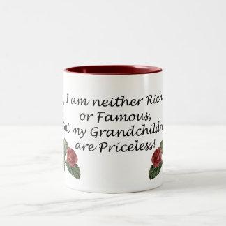 Grandchildren are Priceless Two-Tone Coffee Mug