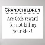 Grandchildren are Rewards Poster
