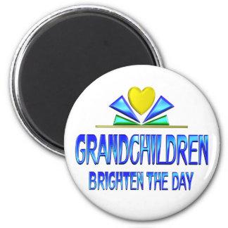 Grandchildren Brighten the Day 2 Inch Round Magnet