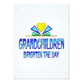 Grandchildren Brighten the Day 5.5x7.5 Paper Invitation Card