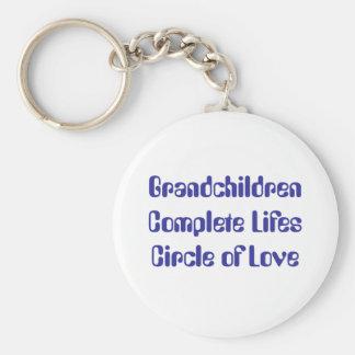 Grandchildren Complete Lifes Circle of Love Key Chain