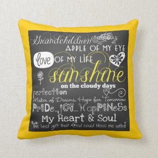 Grandchildren Love and Inspiration Pillow