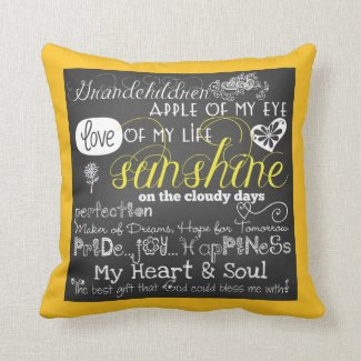 Grandchildren Love Of My Life Pillow