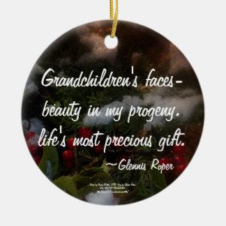 Grandchildren most precious gift christmas tree ornament