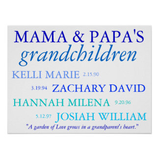 Grandchildren Poster