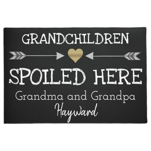 Grandchildren Spoiled Here Doormat