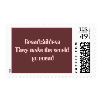 Grandchildren They make the world go round Stamp