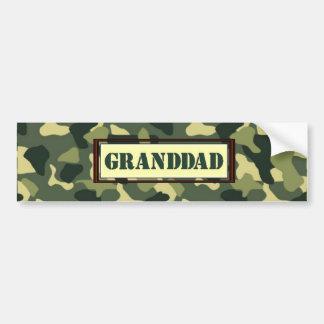 Granddad Camo Bumper Sticker