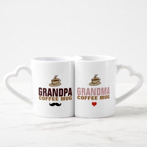 granddad & grandmom idea Couples' Coffee Mug Set
