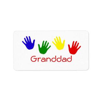 Granddad Custom Address Labels