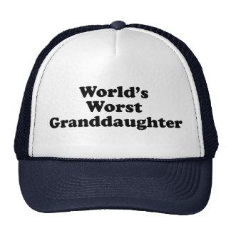 Granddaugher peor del mundo gorros bordados