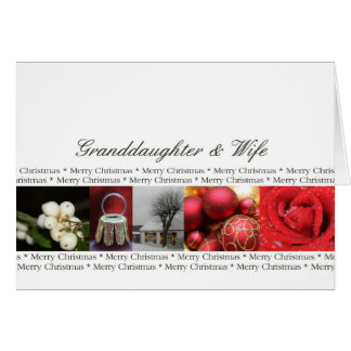 Granddaugher & Wife Merry Christmas Collage Greeting Cards