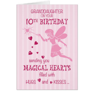 Granddaughter 10th Birthday Magical Fairy Pink Card