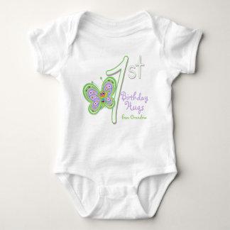 Granddaughter 1st Birthday Butterfly Hugs Infant Creeper