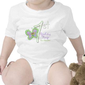 Granddaughter 1st Birthday Butterfly Hugs T-shirts