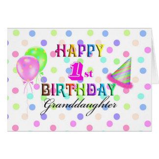 Granddaughter 1st Birthday Greeting Card