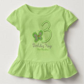Granddaughter 3rd Birthday Butterfly Hugs Toddler T-shirt