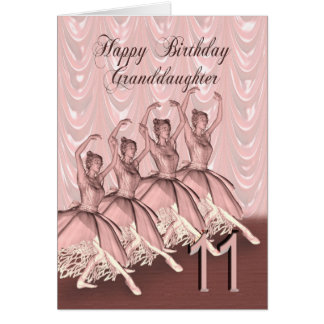 Granddaughter age 11, a ballerina birthday card