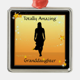 Granddaughter Amazing Woman Premium Ornament