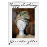 """Hand shaped **GRANDDAUGHTER"""" AND A VERY LOVELY LADY = BIRTHDAY CARD"""