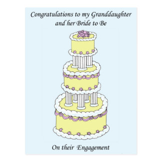 Granddaughter and her Bride Engagement. Postcard
