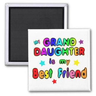 Granddaughter Best Friend 2 Inch Square Magnet