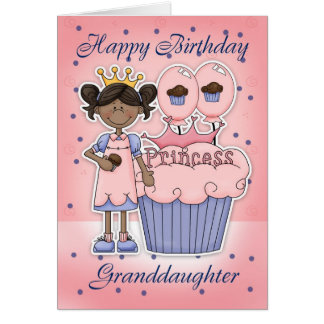 Granddaughter Birthday Card - Cupcake Princess
