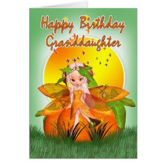 Granddaughter Birthday Card - Moonies Citrus Fairy