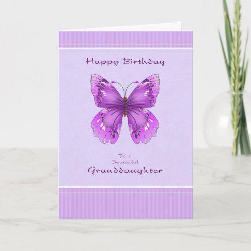 Granddaughter Birthday Card _ Purple Butterfly