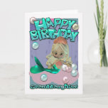 """Granddaughter Birthday Card With Mermaid<br><div class=""""desc"""">Granddaughter Birthday Card With Mermaid</div>"""