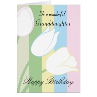 Granddaughter / Birthday - General - Pastel Floral Card
