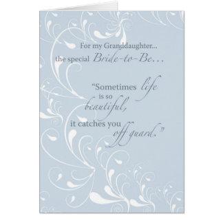 Granddaughter Bridal Shower Congratulations Light Card