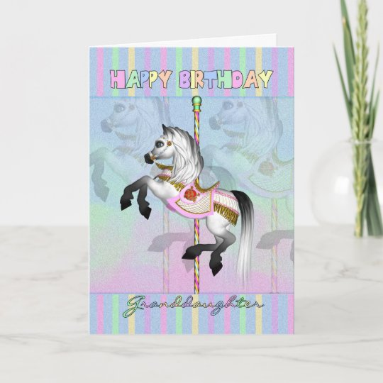 Granddaughter Carousel Birthday Card