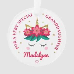 Unicorn Cupcake Hearts Stars Green Dots Personalized Ceramic Ornament Children Christmas Ceramic Circle Heart Snowflake Star