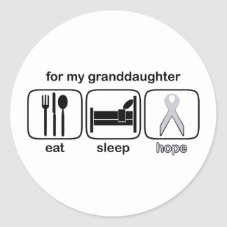 granddaughter classic round sticker