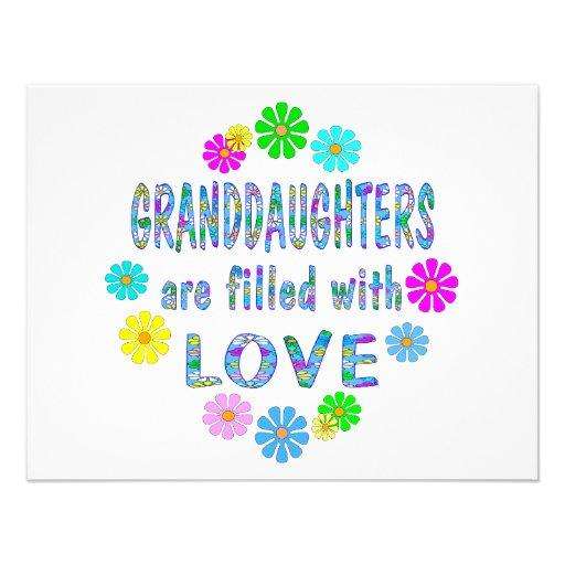 Granddaughter Custom Announcement