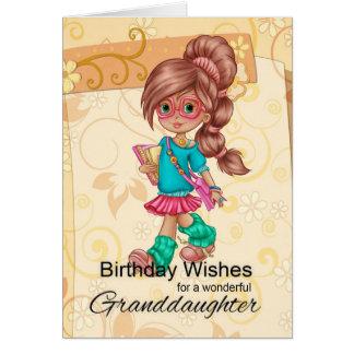 Granddaughter Cute And Trendy Birthday Greetings Greeting Card