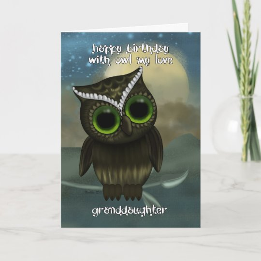 Granddaughter Cute Owl Birthday Greeting Card Zazzle