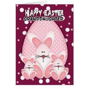 Granddaughter easter gifts on zazzle granddaughter easter bunny greeting card negle Gallery