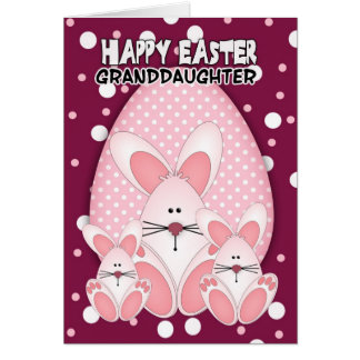 Granddaughter, Easter Bunny Greeting Card