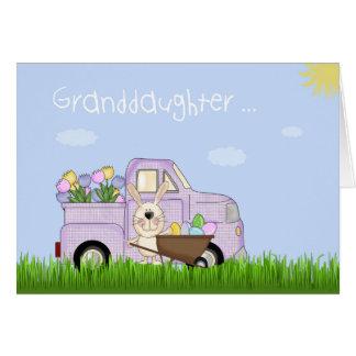Granddaughter Easter Truck, Tulips Card