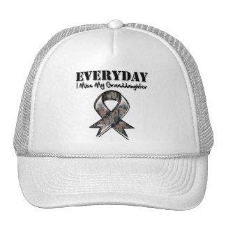 Granddaughter - Everyday I Miss My Hero Military Mesh Hats