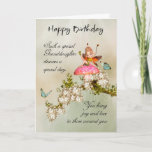 """Granddaughter Fairy Birthday Card With Blossom<br><div class=""""desc"""">Granddaughter Fairy Birthday Card With Blossom</div>"""