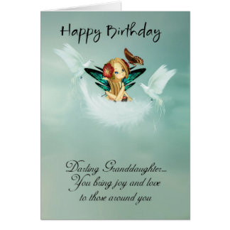 Granddaughter Fairy Birthday Card With Doves