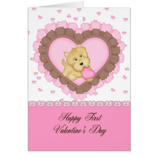 Granddaughter First Valentine Greeting Card