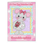 Granddaughter First Valentine's Day With Little Mo Greeting Cards