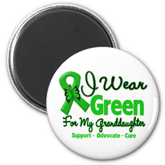 Granddaughter - Green  Awareness Ribbon 2 Inch Round Magnet