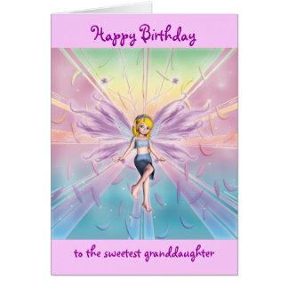 Granddaughter happy birthday customizable card