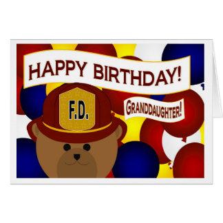Granddaughter - Happy Birthday Firefighter Hero! Card