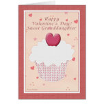 Granddaughter Happy Valentine's Day -  Cupcake Greeting Cards